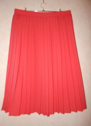 Плиссированная юбка, большого размера
