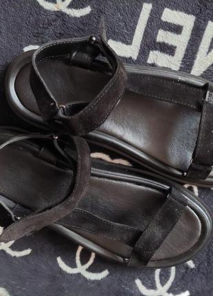 Босоножки сандали натуральный замш