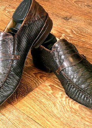 Naviboot (италия)vera сudio - бренд туфли с кожи питона.разм.42