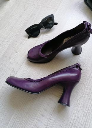 🔥вінтажні туфлі🔥туфли на каблуке рюмка в стиле ретро 🔥кожаные туфли