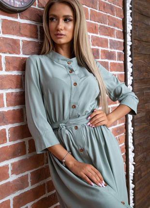Платье цвет оливковый 66421