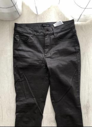 Новые штаны джинсы massimo dutti 36 xs s оригинал кожаные коричневые