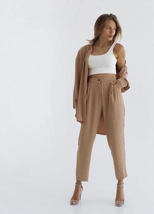 Костюм, рубашка оверсайз+брюки бананы