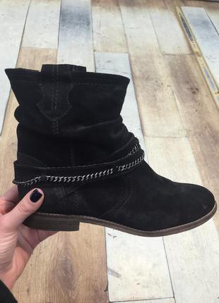 Немецкие замшевые ботинки деми