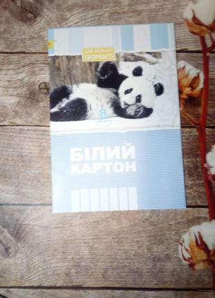 """Белый картон а4 8 листов """"коленкор"""""""