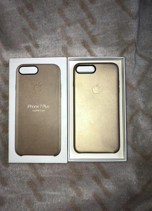 Кожаный чехол для iphone 7+ 8+