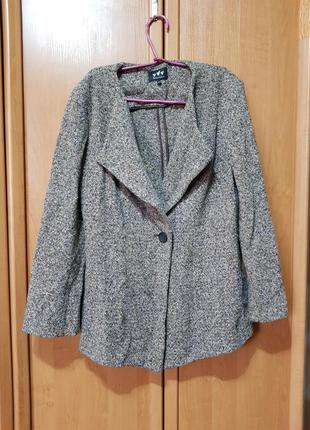 Стильный осенний шерстяной жакет, пиджак, пальто