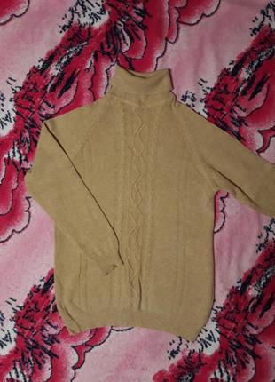 Винтажный свитер нахар из шерсти и ангоры очень теплый, размер м