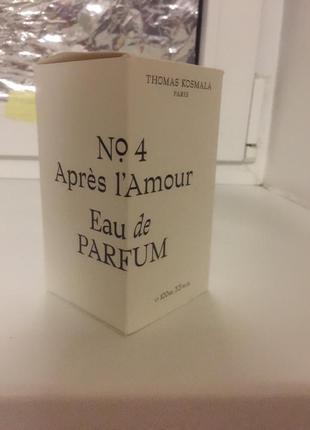 Парфюм thomas cosmala - apres l'amour # 4