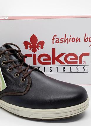 Кожаные теплые удобные зимние ботинки rieker antistress оригинал