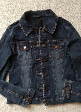 Синяя джинсовая курточка 36/s