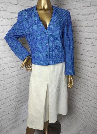 Пиджак жакет с вышивкой р.10-12 (м-л) kenzo paris