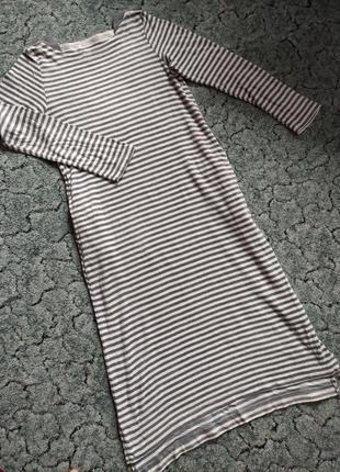 Домашні полосаті плаття-ночнушки р.м