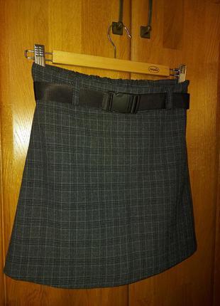 Серая юбка шорты для девочки