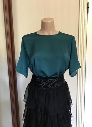 Блуза, футболка, искусственный шёлк
