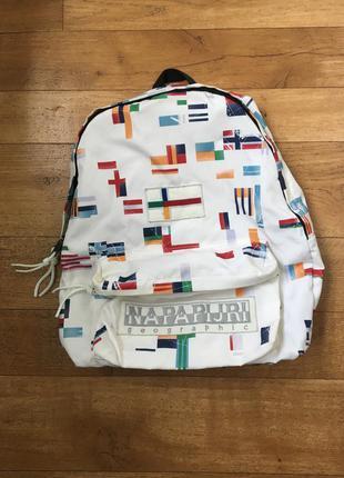 Трендовый рюкзак суперлегкий непромокаемыми вместительный napapijri флаги