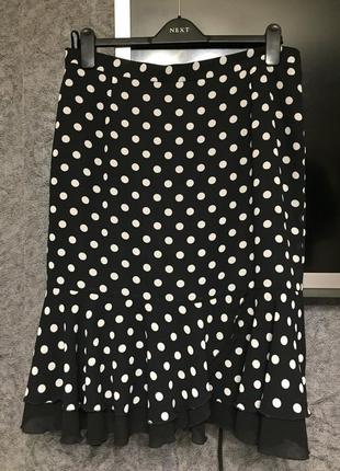Симпатичная юбка в горох