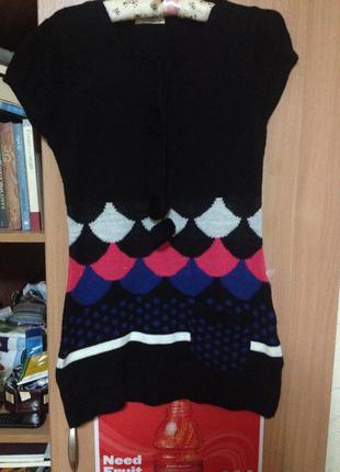 Свитер платье четырехцветный - p.s