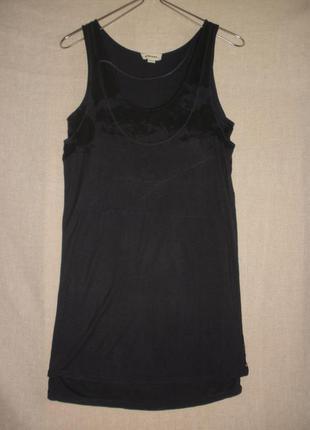 Короткое двухслойное платье-майка платье-футболка diesel вискоза тонкий трикотаж