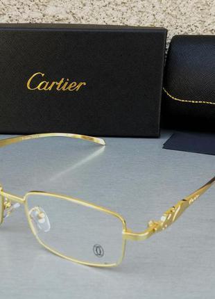 Cartier очки унисекс имиджевые оправа для очков из золотистого металла