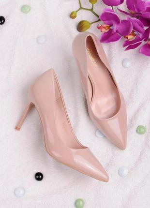 Женские туфли лодочки mei de li бежевые на шпильке