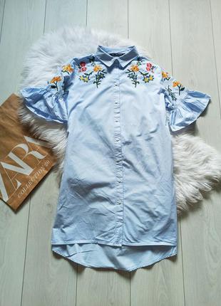 Рубашка платье с вышивкой