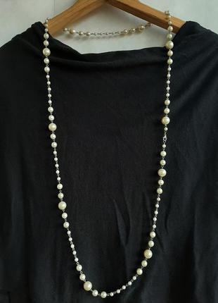 Бижутерия бусы ожерелье марки lancome жемчуг