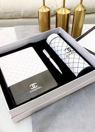 Подарочный набор бокс блокнот ручка термос