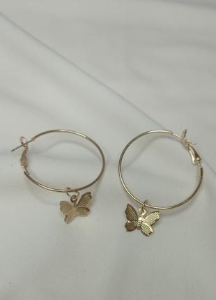 Xuping серьги кольца бабочки