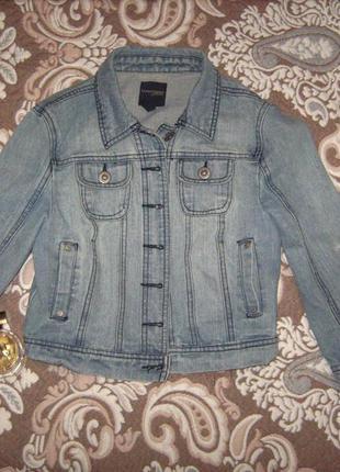 Стильна коротка  джинсовка