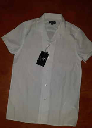 Рубашка белая короткий рукав