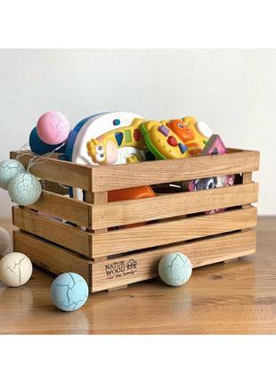 Деревянный ящик naturwood для игрушек 40*30*22 см
