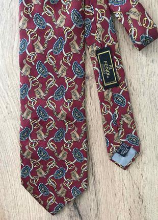 Шелковый галстук fendi фенди