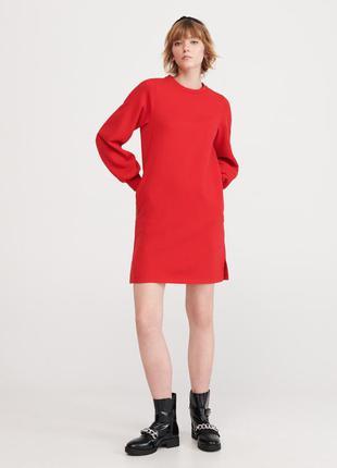 Теплое платье-толстовка