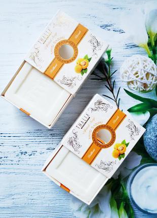 Акция! натуральное кусковое мыло абрикос тм thalia, 150 гр