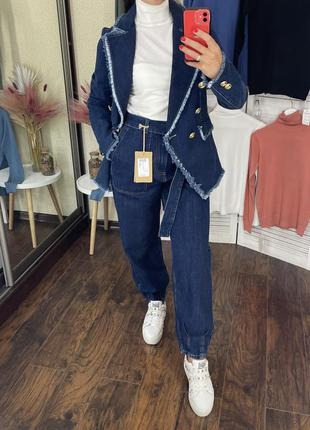 Джинсовый total look италия італія джинсы блейзер итальянские imperial dixie