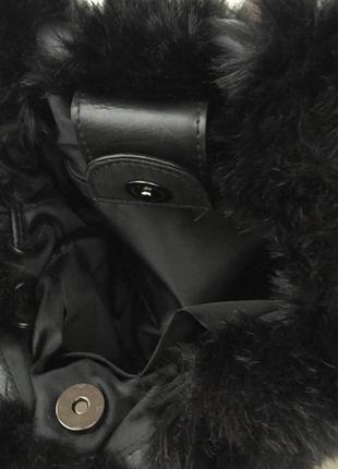 Сумка/искусственный мех/черная / бренд firelli/5