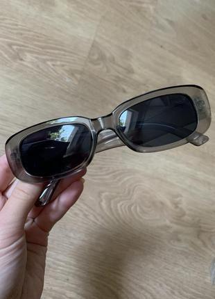 Уценка! стильные прямоугольные солнцезащитные очки в прозрачной оправе