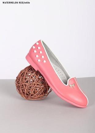 Рр 33-38.розовые балетки туфли малиновые детские подростковые