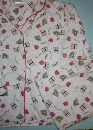 Байковая пижама  ф.primark  6/7 лет,р-116/122 см в хорошем состоянии