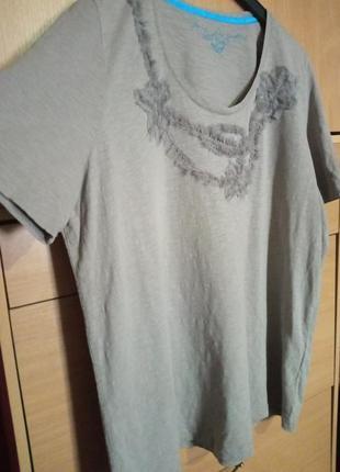 Брендовая блуза из трикотажа боталл