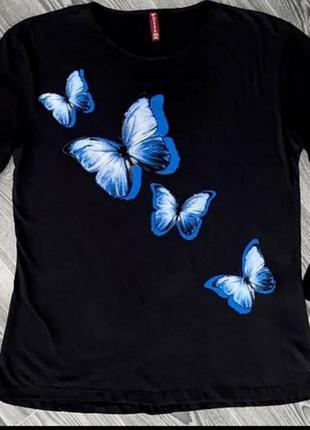 Женская футболка с длинным рукавом (лонгслив)   💯 хлопок  производитель турция🇹🇷