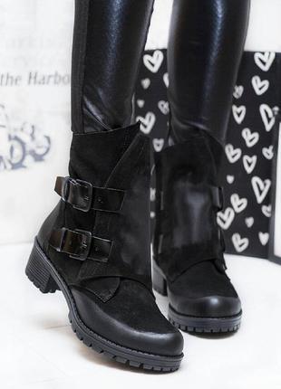 Размеры 36-40. зимние ботинки из натурального нубука с затиркой