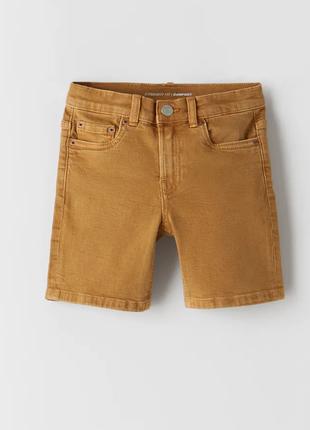 Джинсовые шорты для мальчика от zara коричневые