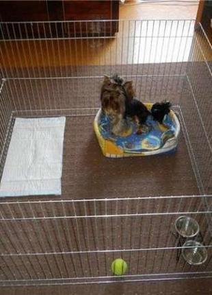 Вольер манеж ясли клетка ограждение для котов собак щенков котят лори 4 секции 1мх1мх60 см