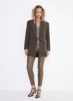 Лосины zara, кожаные лосины zara, кожаные штаны