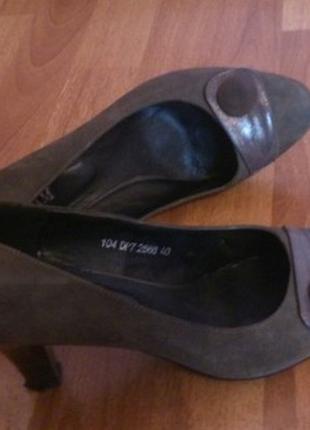 Замшеві туфлі розмір 40/ замшевые туфли