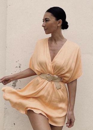 Легкое платье мини от zara