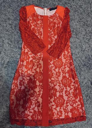 Брендовое красное платье