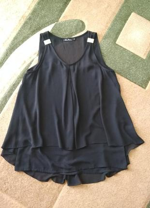 Блуза блузка безрукавка  рубашка недорого удлененная